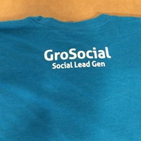 Screen Printed Back of Tee - GroSocial