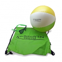 Sun Glasses, Beach Ball, Cinch Bag | StoneHaven Dental