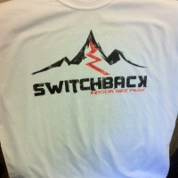 2-Sided Screen Printed T-shirts - SwitchBack Indoor MTN Bike Park