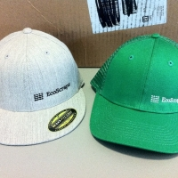 Heather Gray Flatbill & Green Trucker Hat - EcoScraps