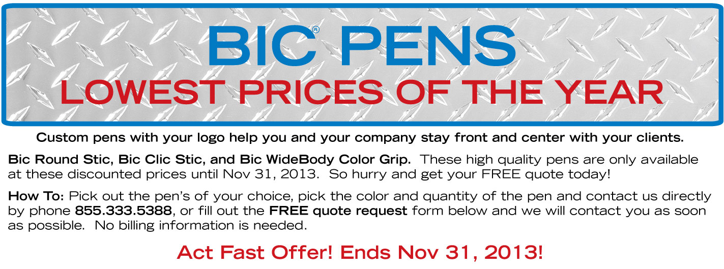 Bic Pens - Lowest Prices of the Year