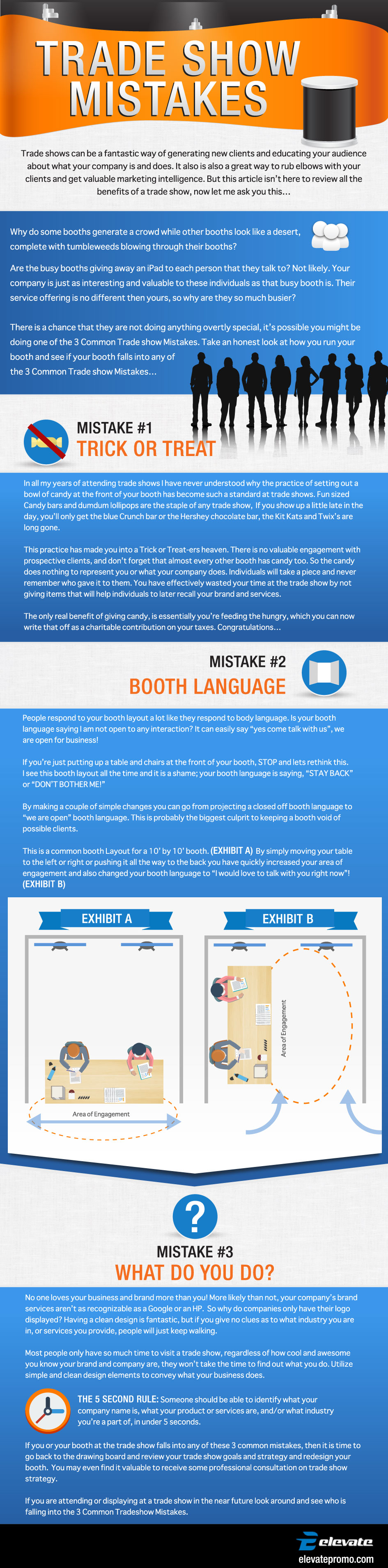 Trade Show Mistakes Infographic
