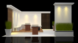 modern trade show booth