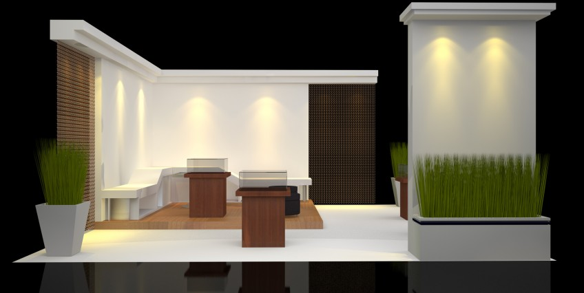 Modern Exhibition Booth : The modern trade show booth elevate promo