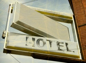 Hotel Sign Aged