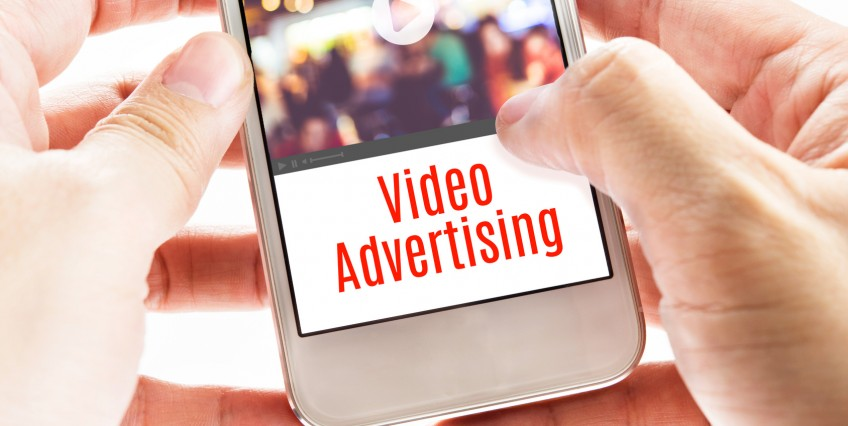 video ad on phone