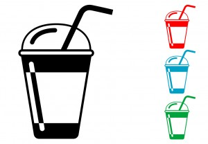 Vector images of drinks.